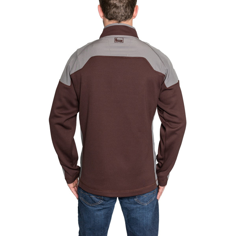 Banded Southern Pines Quarter Zip Pullover in Wine Color
