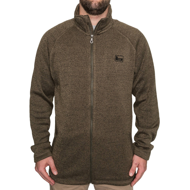 Banded Leavellwood Full Zip Jacket in Spanish Moss Color
