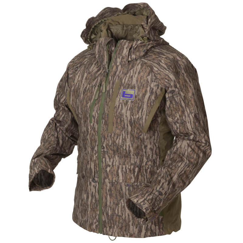 Banded Womens White River Wader Jacket in Mossy Oak Bottomland Color