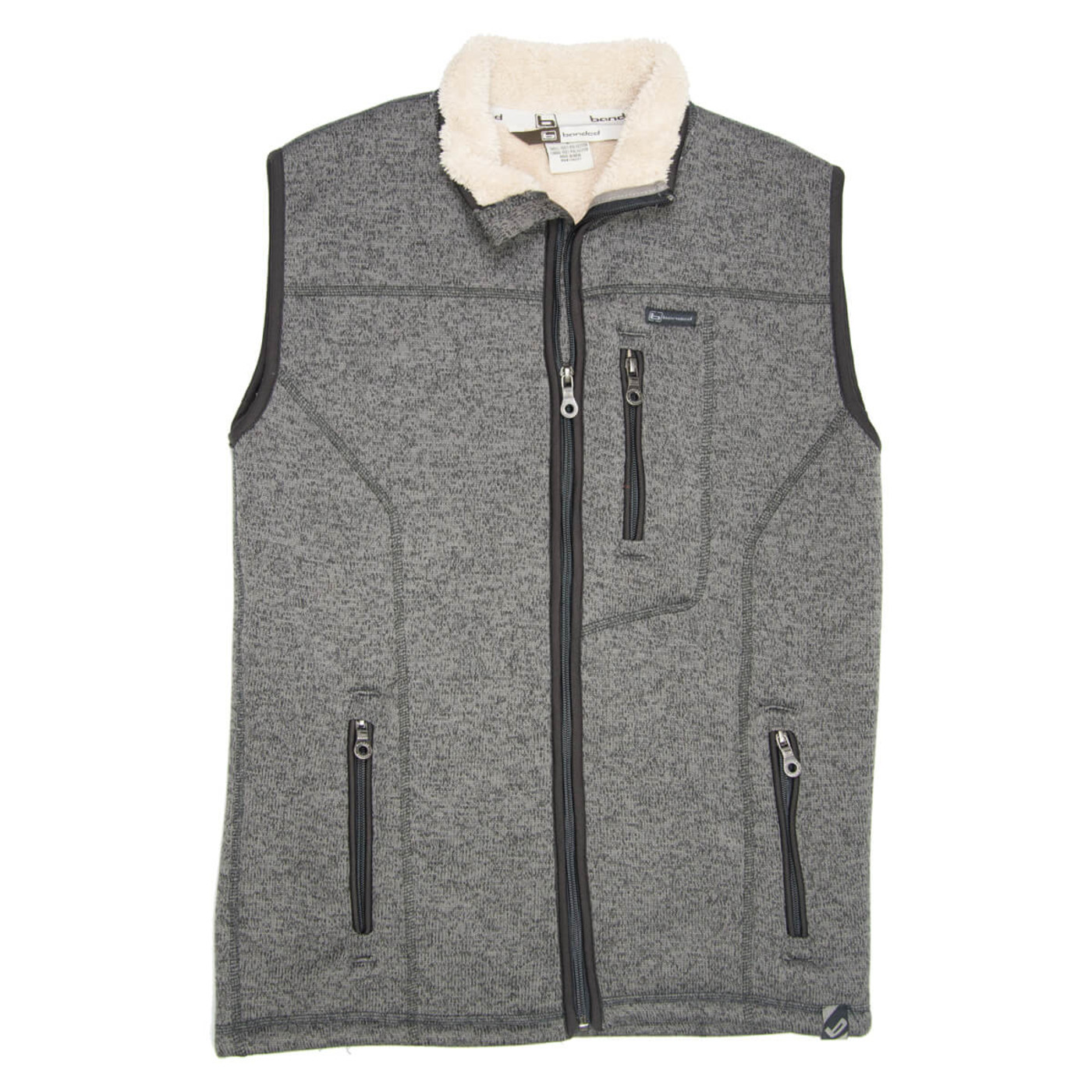 Banded Polar Fleece Vest in Grey Color