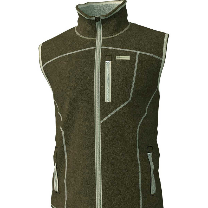 Banded Polar Fleece Vest in Spanish Moss