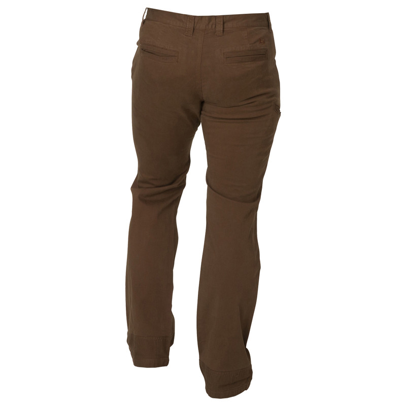 Banded Twill Garment Dyed Pant in Brown Color