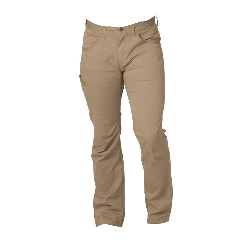 Banded Twill Garment Dyed Pant in Putty Color