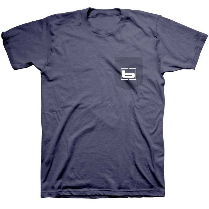 Banded Signature Short Sleeve T-Shirt in Blue Lake Color