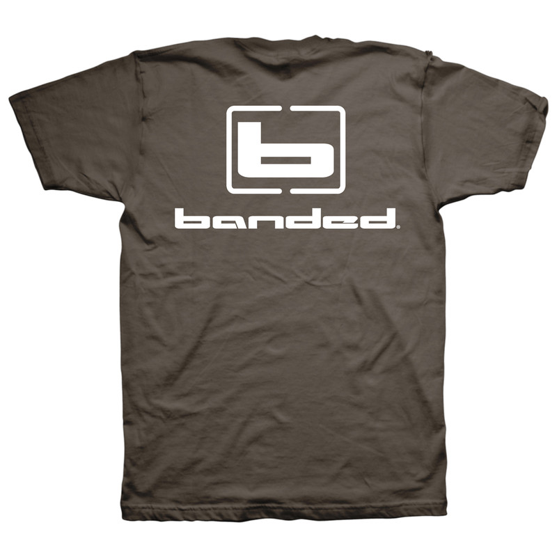 Banded Signature Short Sleeve T-Shirt in Brown Color