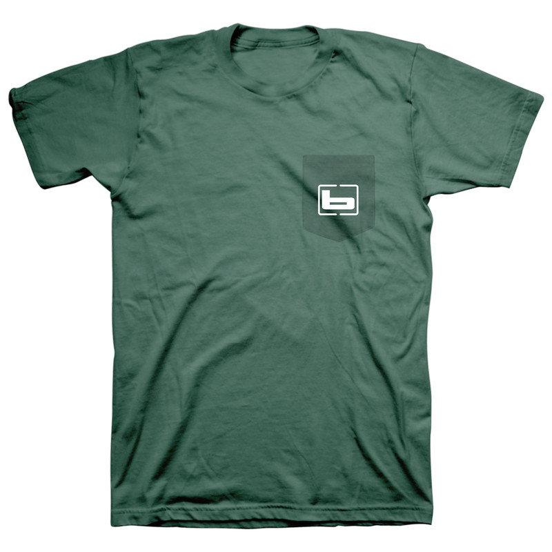 Banded Signature Short Sleeve T-Shirt in Mallard Green Color