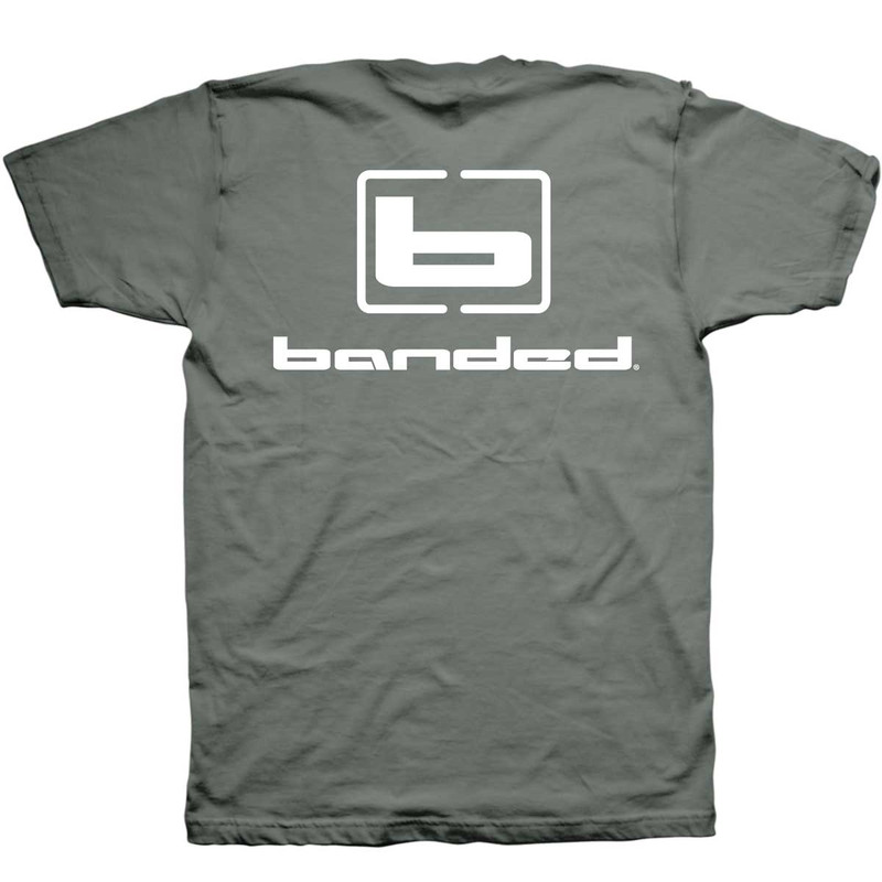Banded Signature Short Sleeve T-Shirt in Sage Color