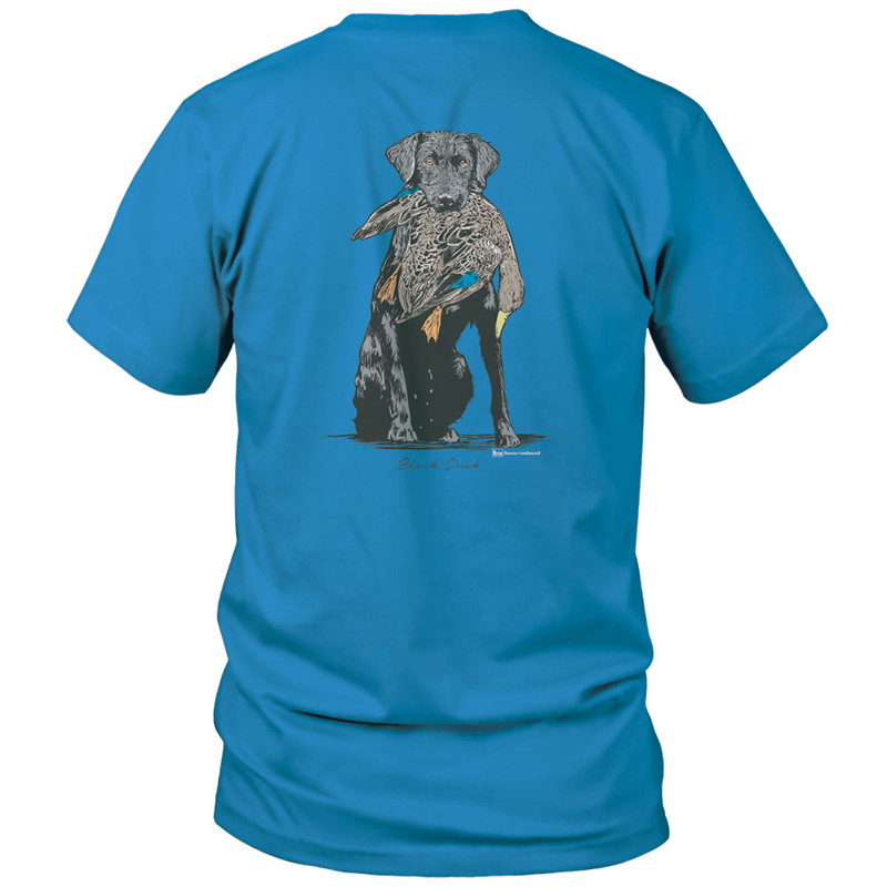 Banded Youth Black Duck Short Sleeve T-Shirt in Delta Blue Color