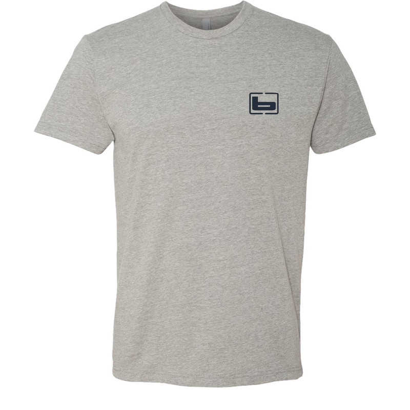 Banded Thick Lines Short Sleeve T-Shirt in Dark Heather Grey Color
