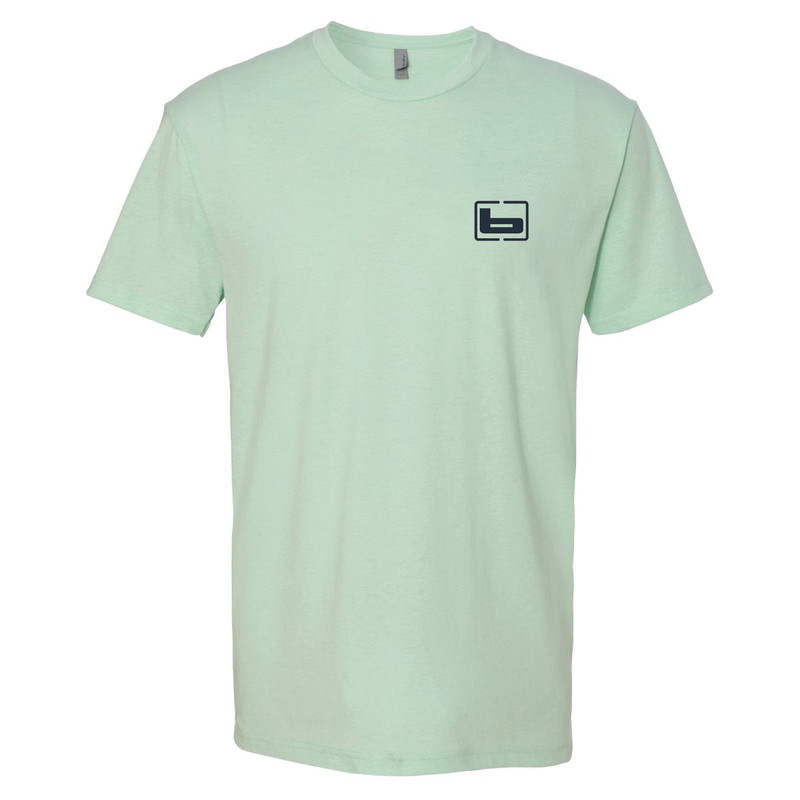 Banded Thick Lines Short Sleeve T-Shirt in Mint Color