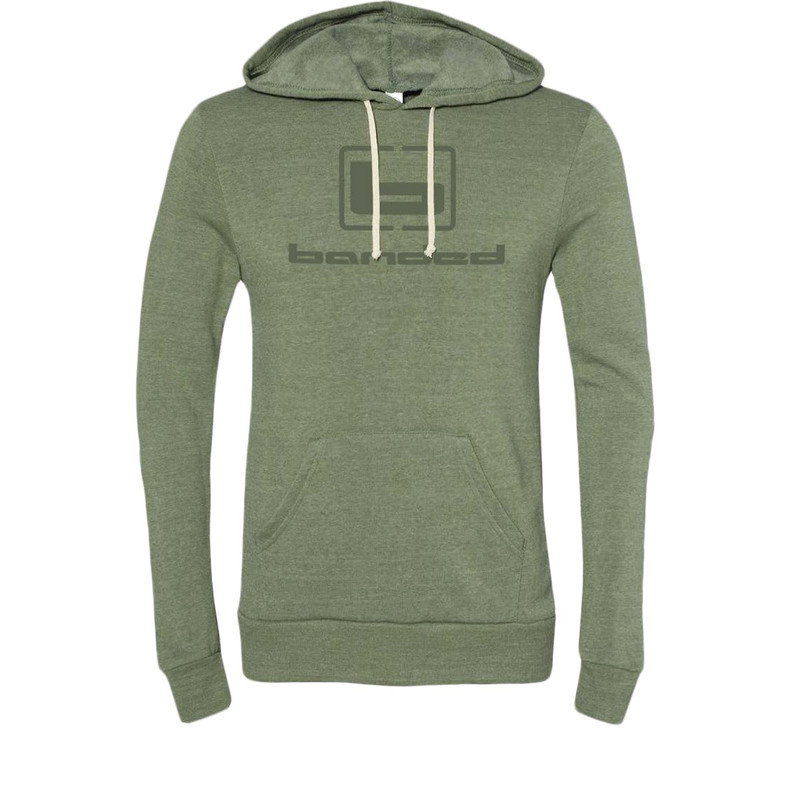 Banded Eco-Fleece Challenger Hoodie in Army Green Color
