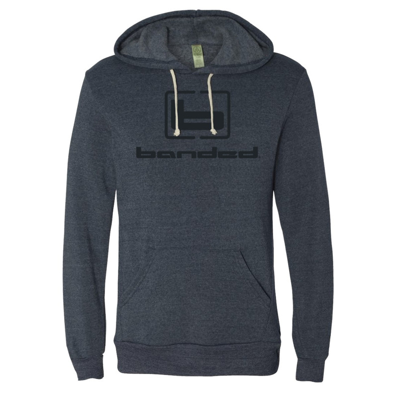Banded Eco-Fleece Challenger Hoodie in Navy Color