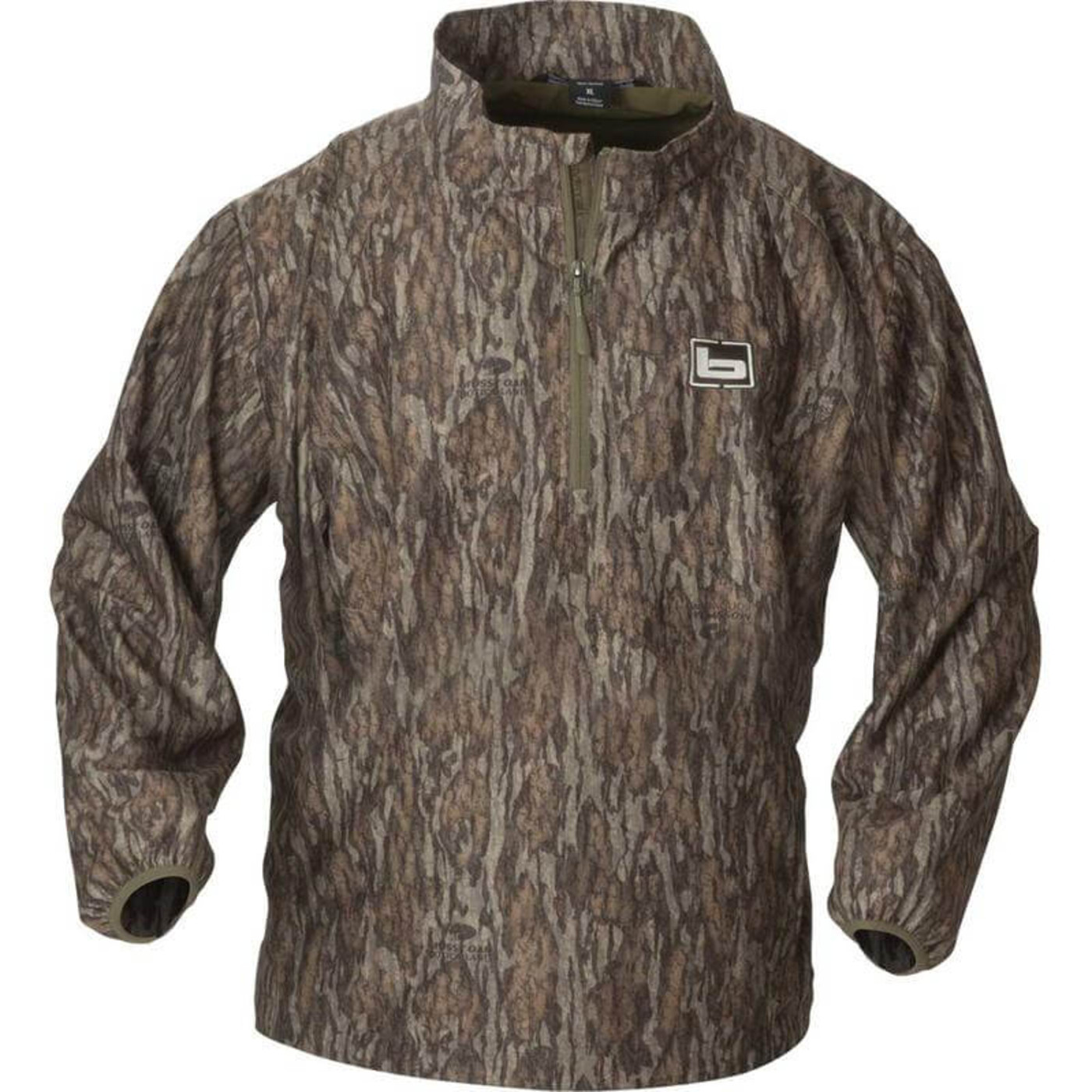 Banded Windproof Pullover in Mossy Oak Bottomland Color