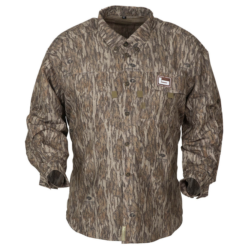 Banded Lightweight Long Sleeve Hunting Shirt in Mossy Oak Bottomland Color