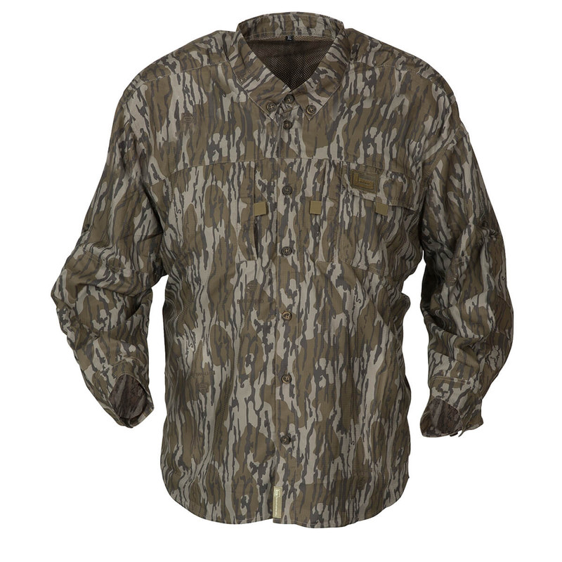 Banded Lightweight Long Sleeve Hunting Shirt in Original Mossy Oak Bottomland