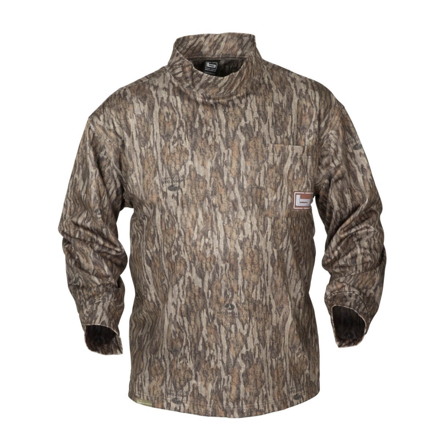 Banded Tec Fleece Mock Neck Shirt in Mossy Oak Bottomland Color