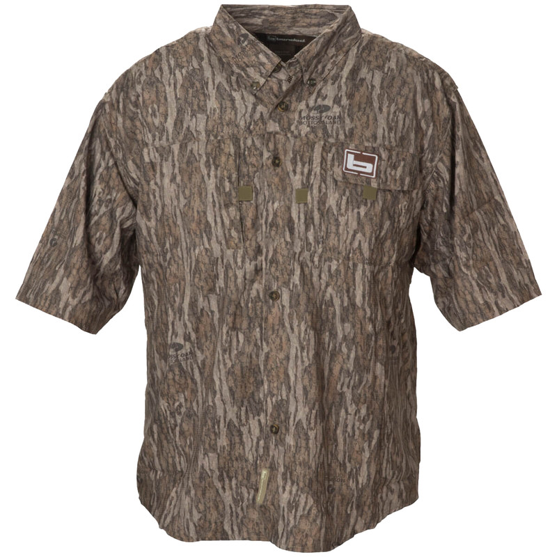 Banded Lightweight Short Sleeve Hunting Shirt in Mossy Oak Bottomland Color
