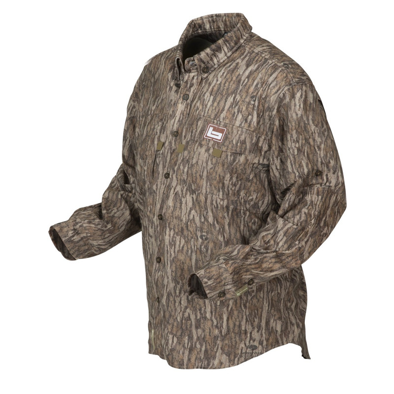 Banded Midweight Long Sleeve Hunting Shirt in Mossy Oak Bottomland Color