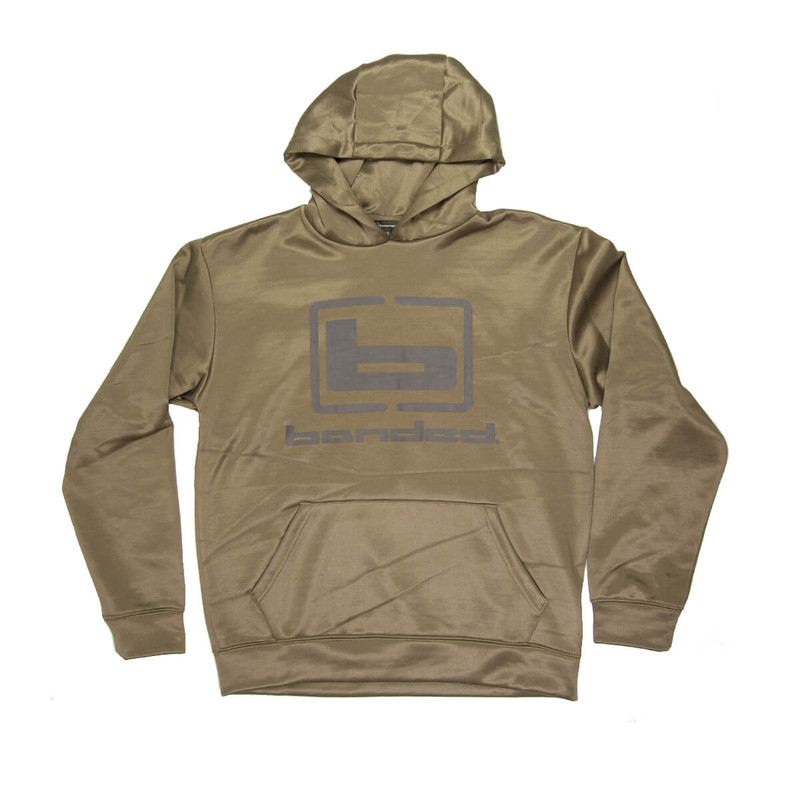 Banded Logo Hoodie in Spanish Moss Color