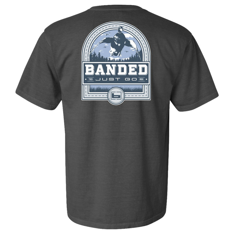 Banded Short Sleeve Duck Badge Tee in Pepper Color