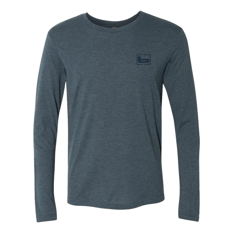 Banded Long Sleeve Just Go 3D Mallard Tee in Indigo Color