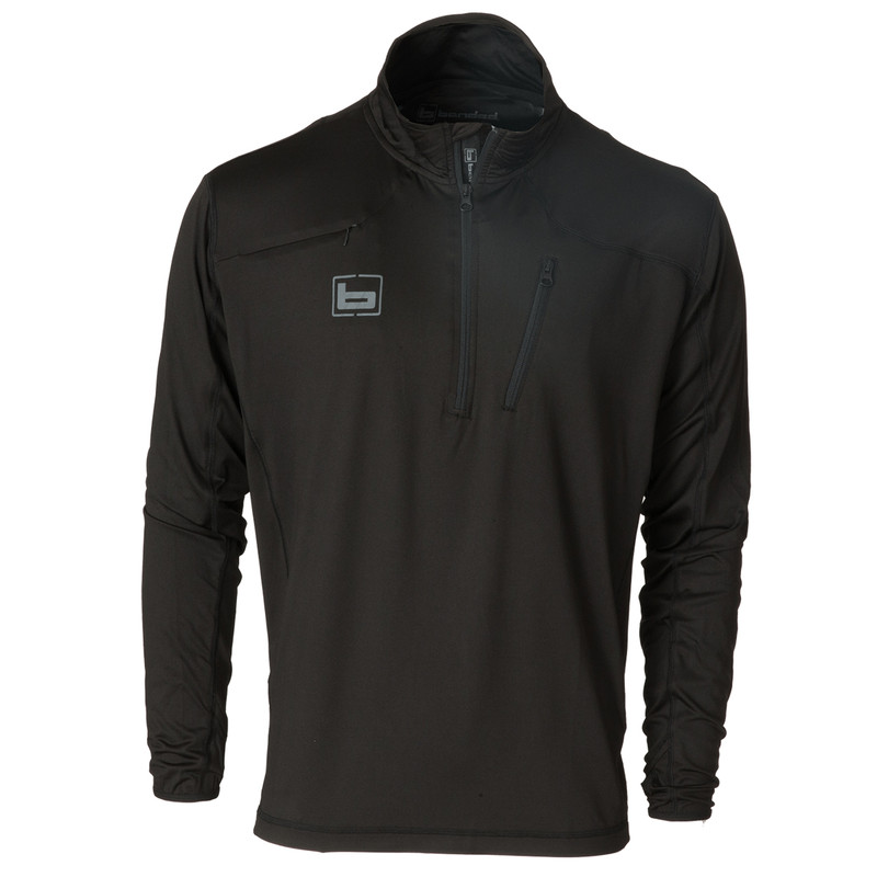 Banded Tec Stalker Quarter Zip Pullover in Black Color