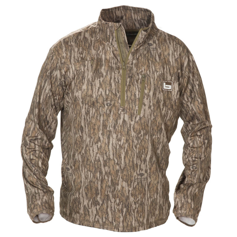 Banded Tec Stalker Quarter Zip Pullover in Mossy Oak Bottomland Color