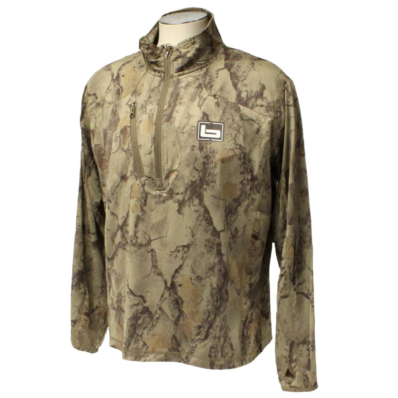 Banded Tec Stalker Quarter Zip Pullover in Natural Gear Color