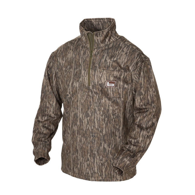 Banded Tec Fleece 1/4 Zip Pullover in Mossy Oak Bottomland Color