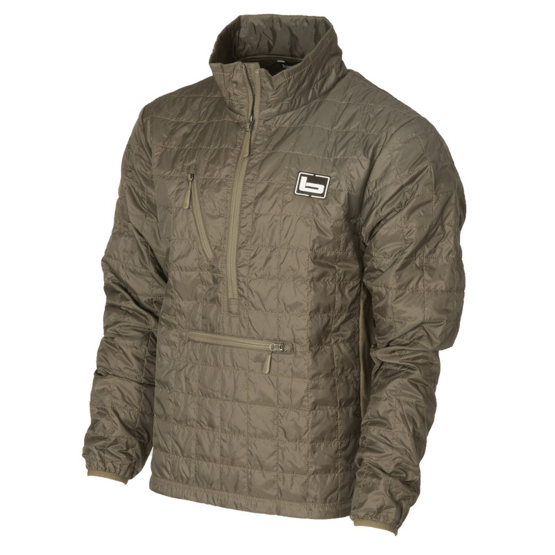 Banded Northwind Nano Primaloft Pullover in Spanish Moss Color
