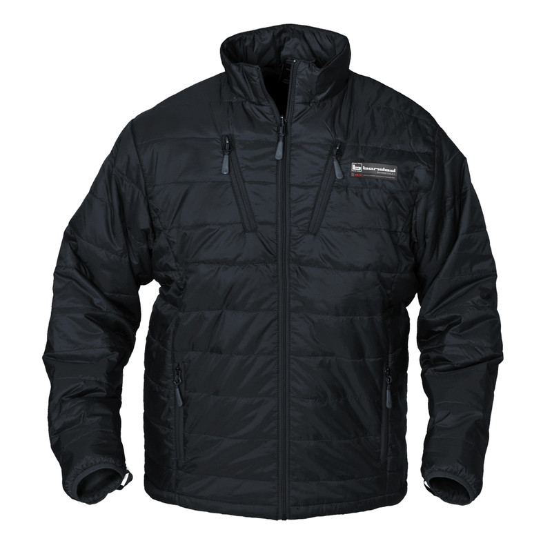 Banded H.E.A.T. Insulated Liner Jacket - Long Liner in Black Color