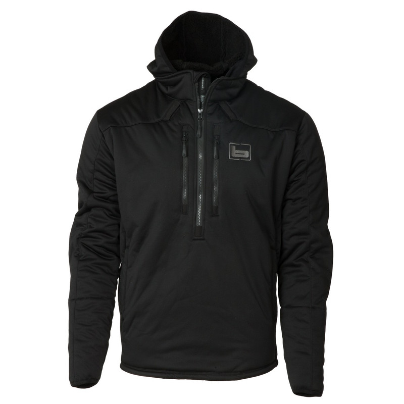 Banded FG-1 Soft-Shell Pullover in Black Color