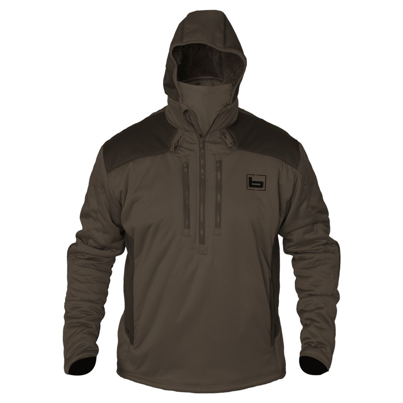 Banded FG-1 Soft-Shell Pullover in Marsh Brown Color