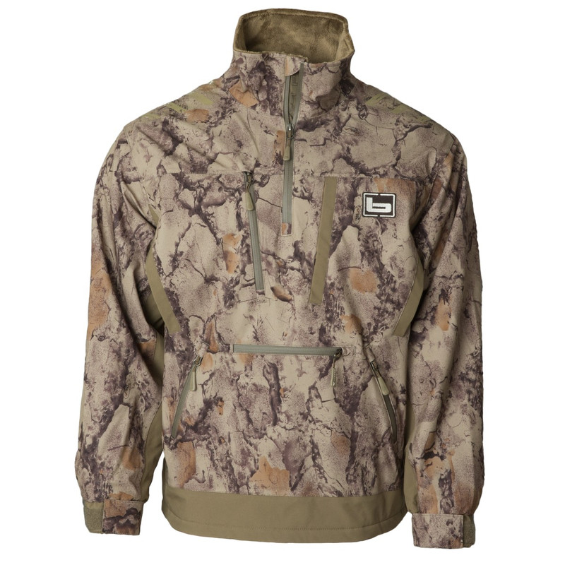 Banded Stretchapeake Insulated Jacket/Quarter Zip Pullover in Natural Gear Color