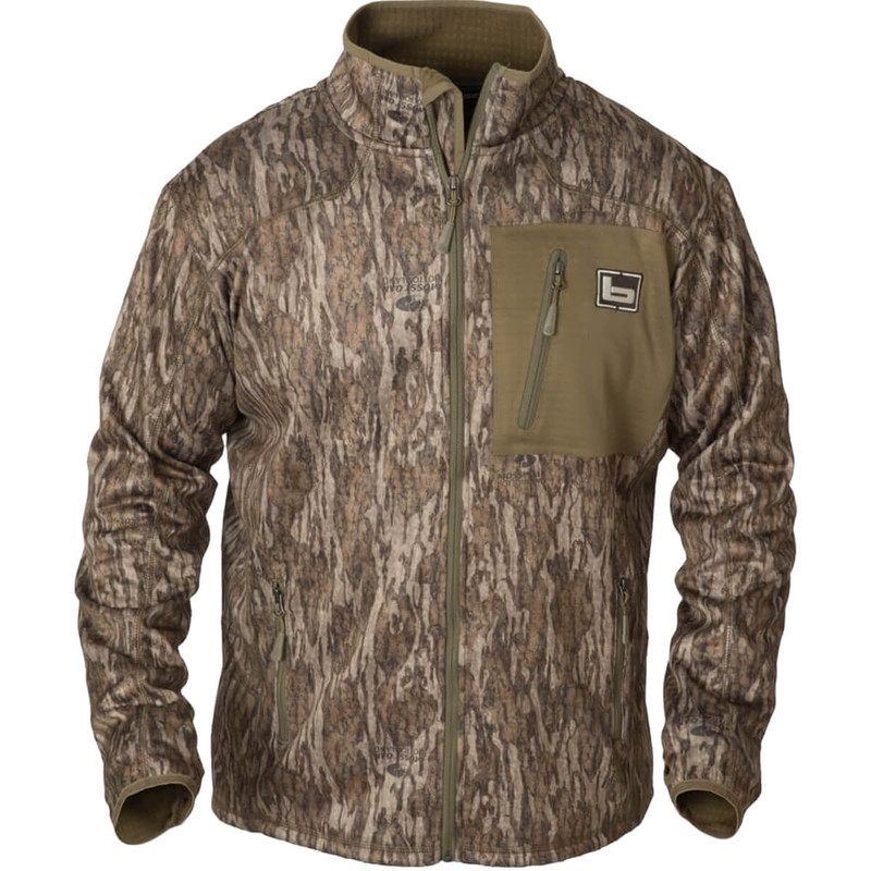 Banded Full-Zip Mid-Layer Fleece Jacket in Mossy Oak Bottomland Color