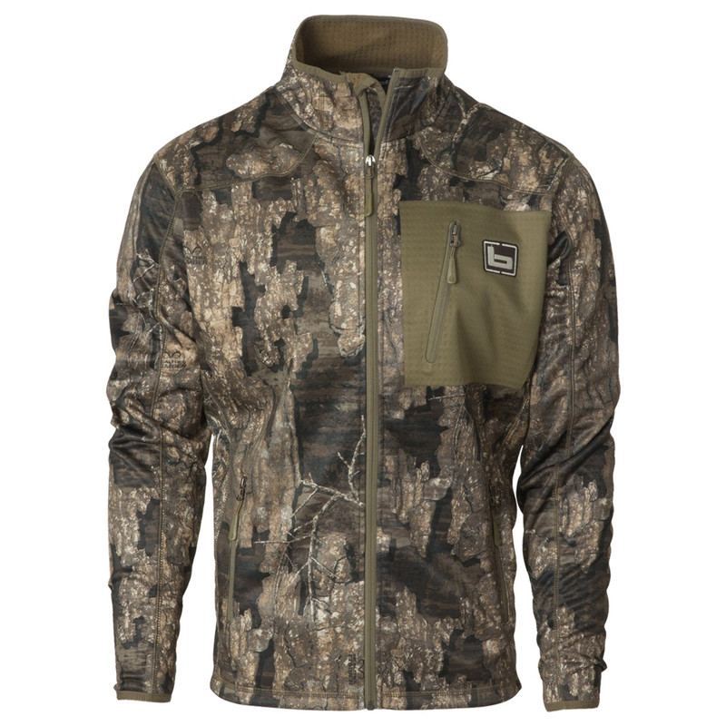 Banded Full-Zip Mid-Layer Fleece Jacket in Realtree Timber Color