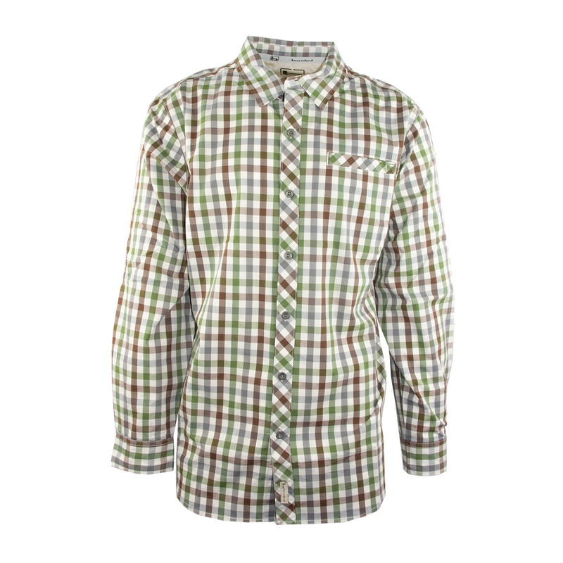 Banded Active Vented Dri-Stretch Long Sleeve Shirt in All Spice Plaid Color