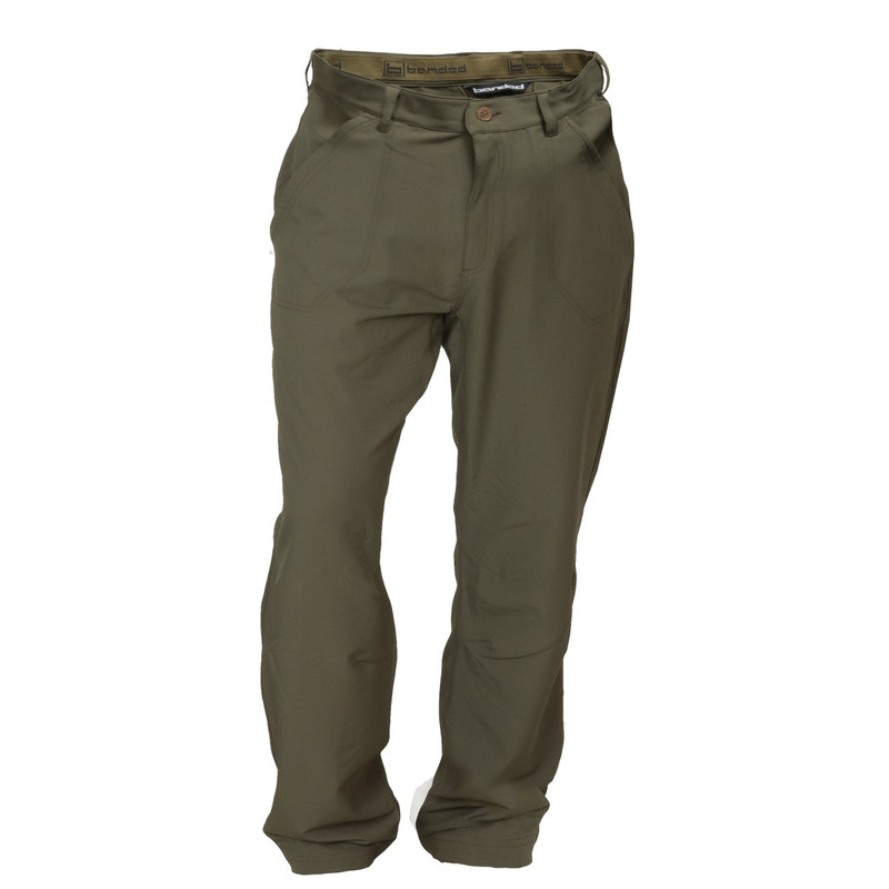 Banded Stretchable Swag Pant in Spanish Moss Color