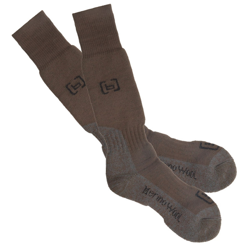 Banded Wool Heavy Weight Knee Socks in Chocolate Color