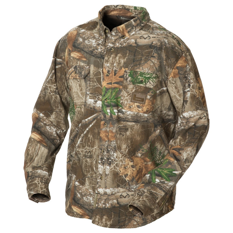 Banded Featherlite Button Up Shirt in Realtree Edge Color