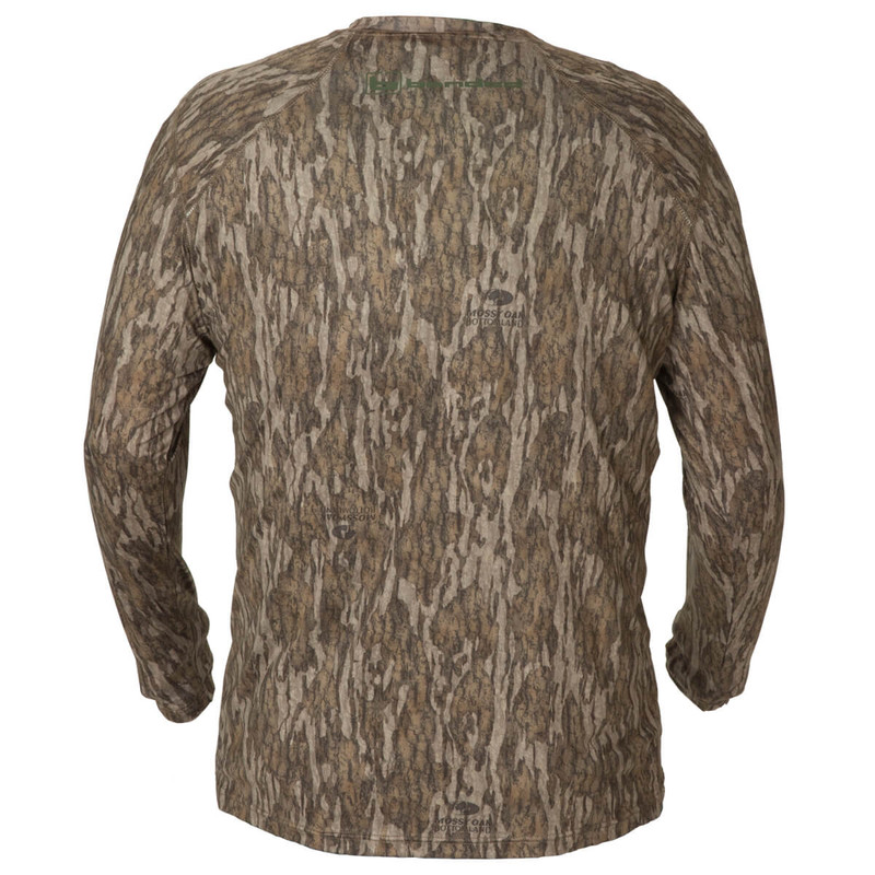 Banded Tech Stalker Mock Shirt in Mossy Oak Bottomland Color