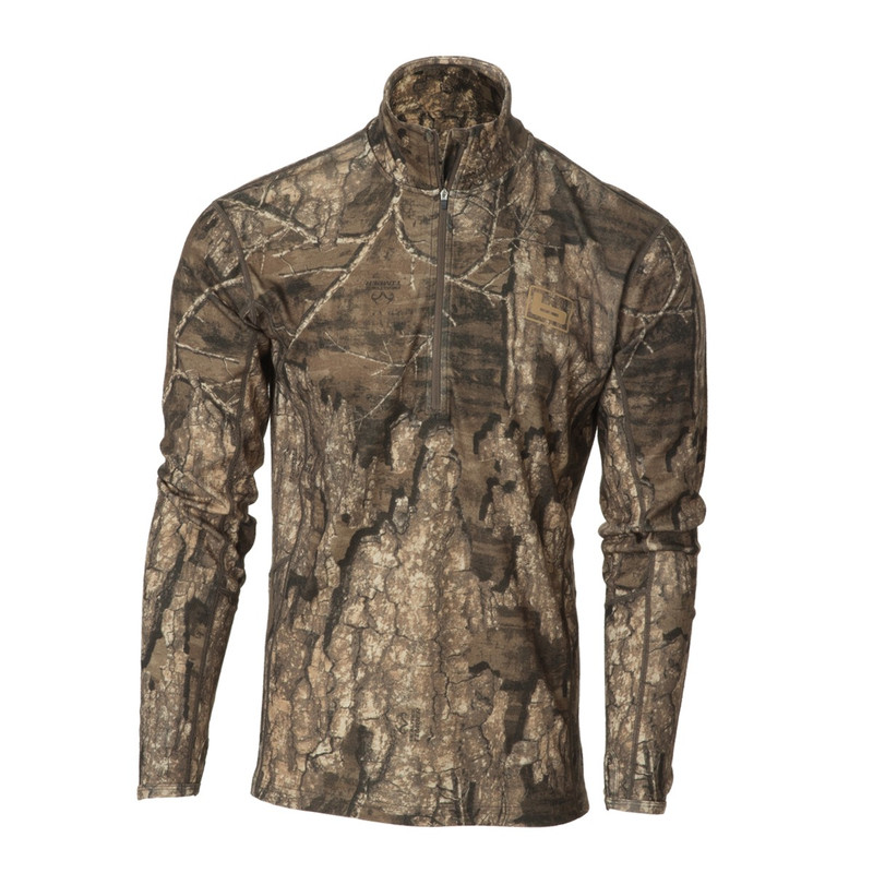 Banded Base Merino Wool 1/4 Zip Pullover 230 Gram in Realtree Timber Color