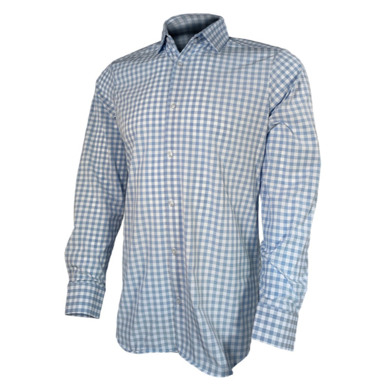 Banded Hustle Performance Shirt in Light Blue Check Color