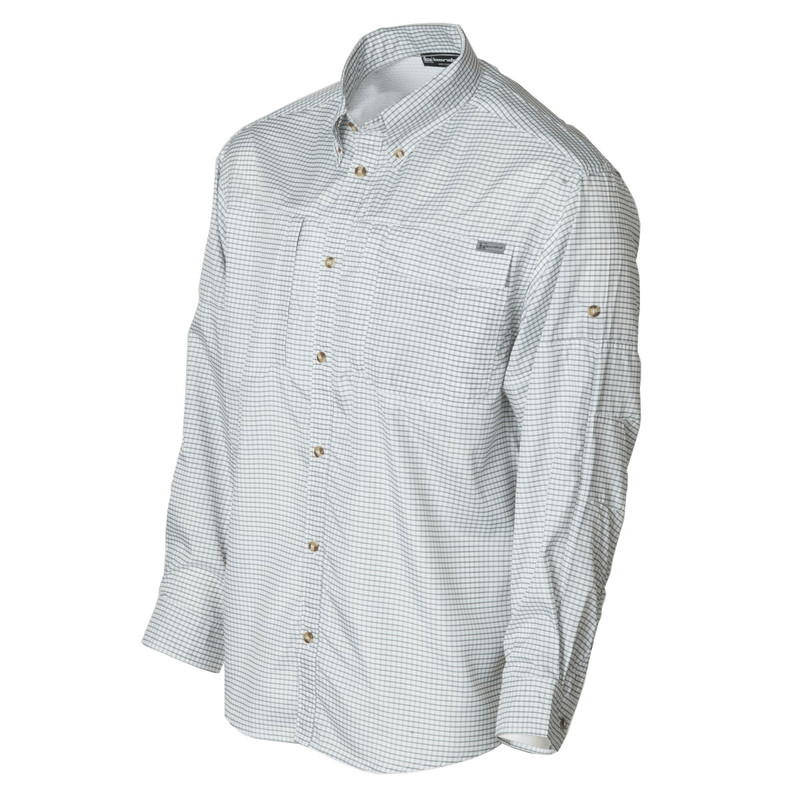 Banded Hook Performance Fishing Shirt in Graphite Plaid Color