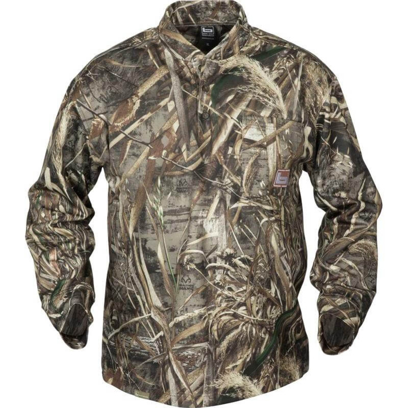 Banded Tec Fleece Henley Shirt in Realtree Max 5 Color