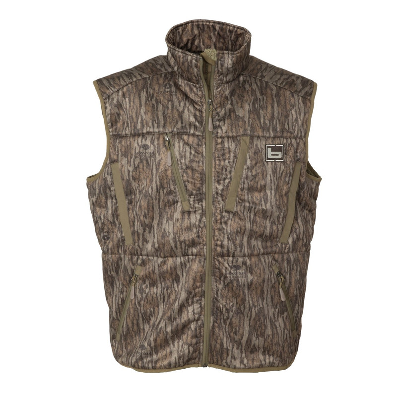 Banded Swift Soft Shell Vest in Mossy Oak Bottomland Color