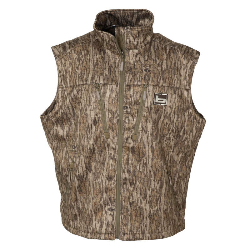 Banded Mid Layer Fleece Vest in Mossy Oak Bottomland Color
