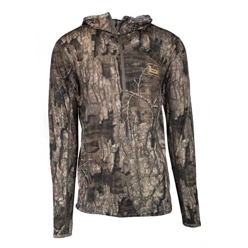 Banded Base Merino Wool 1/4 Zip Hoodie 230 Gram in Realtree Timber Color