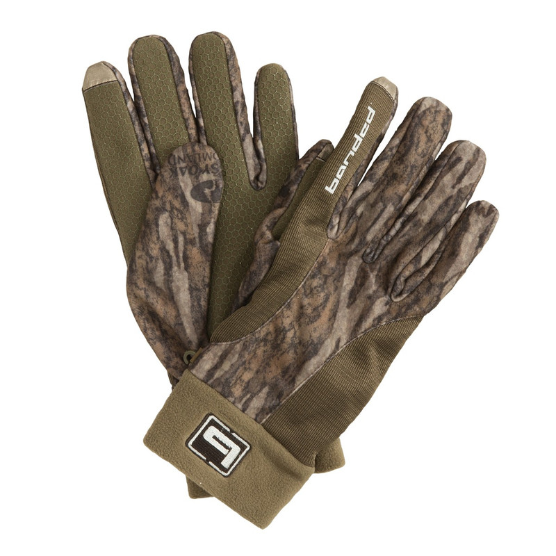 Banded Tec Fleece Glove in Mossy Oak Bottomland Color
