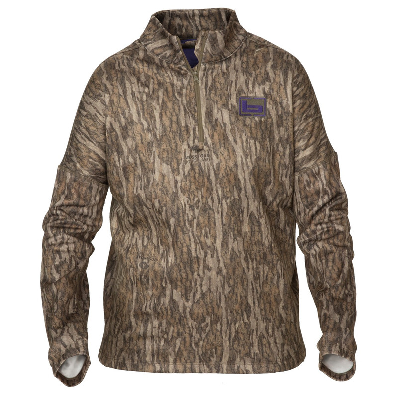 Banded Women's Tec Fleece Quarter Zip Pullover in Mossy Oak Bottomland Color